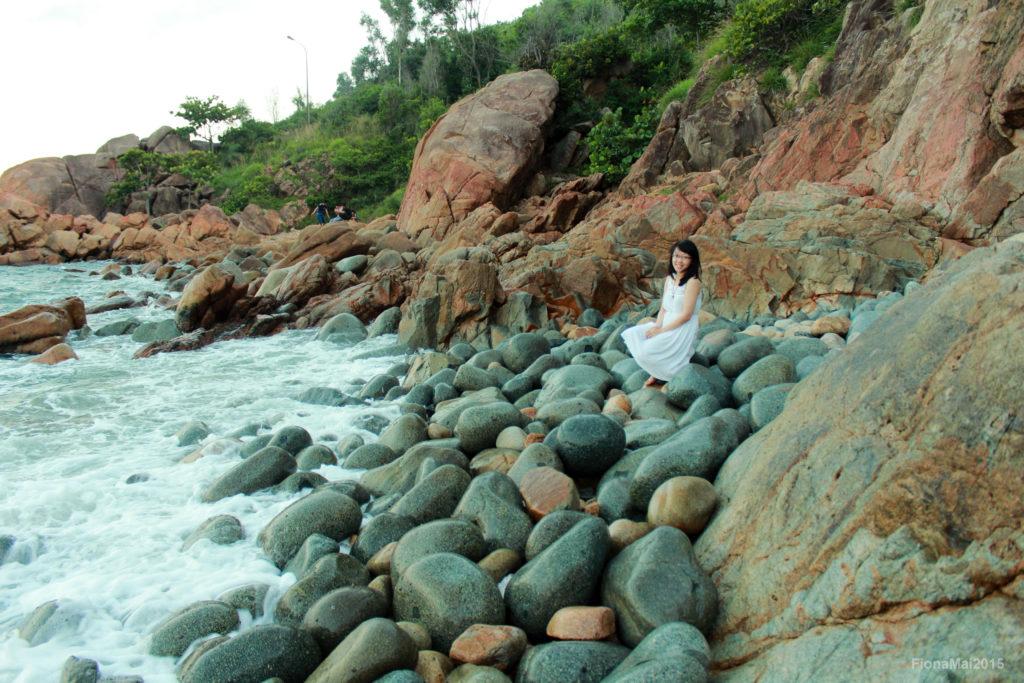 The Queen Beach (Egg Beach) in Quy Nhon Vietnam