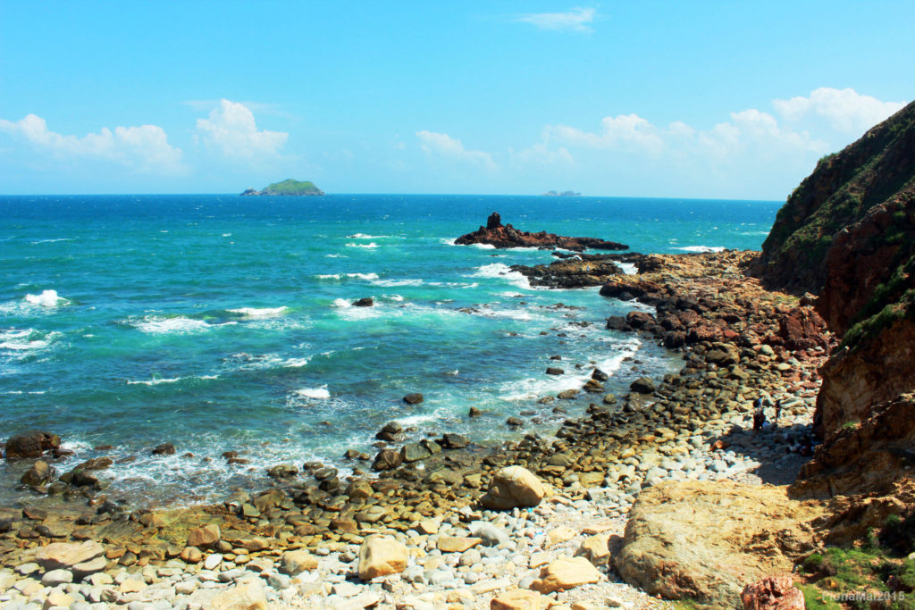 View from Eo Gio (The Windy Pass) in Quy Nhon Vietnam